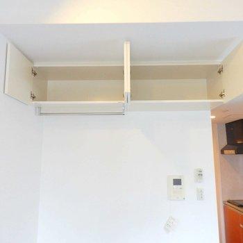 リビング上部にも収納あります。(※写真は2階の同間取り別部屋のものです)