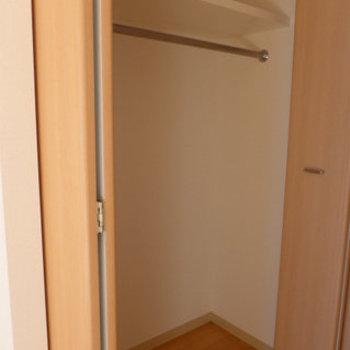 収納スペースも広めでありますよ!(※写真は2階の反転間取り別部屋のものです)