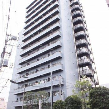 14階建ての分譲マンション。