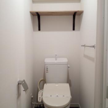 トイレも新しく※写真は6B号室