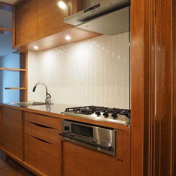 キッチン!シンプルだけどちょっとしたディテールがおしゃれ。※写真は前回募集時のものです