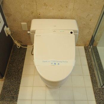 温水洗浄付きのスマートなトイレ※写真は前回募集時のものです