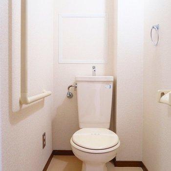 トイレも白め清潔感あり◎