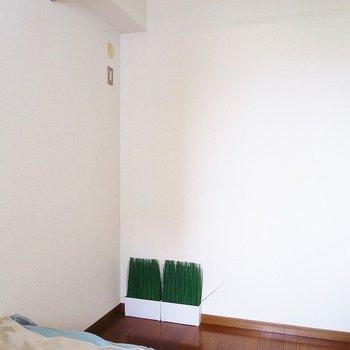 カーテンポールで簡単に収納スペース確保!※写真は前回掲載時のものです。