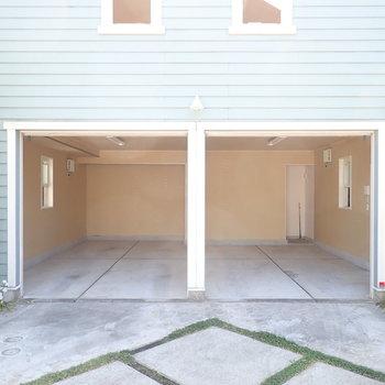 こんなに広いです。車庫以外にも使い方は無限大。