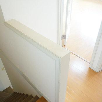 階段を上がって・・
