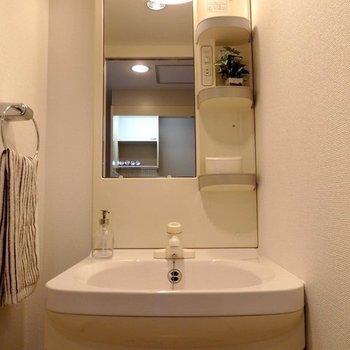 洗面台も1人用です。※写真は同間取り別部屋