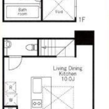 地下と1階のメゾネット