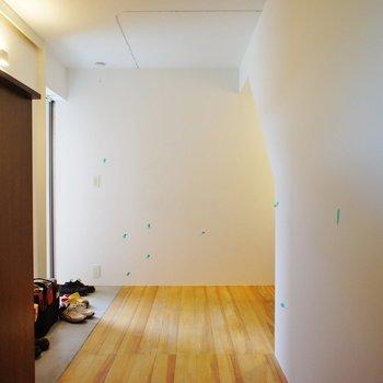 一階は玄関と収納が