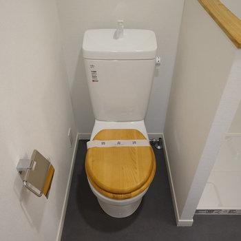 木製便座のトイレ※写真は前回募集時のもの