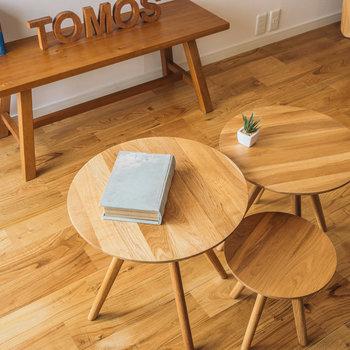 大きな木目模様が特徴のヤマグリの無垢床※写真はイメージ