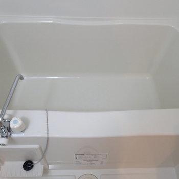浴槽の広さはまずまずといったところ