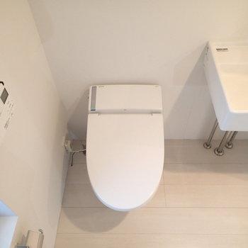 トイレは洗面台のすぐ横です。