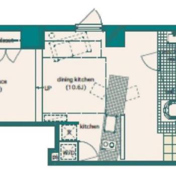 1LDKのお部屋、実質大きめ1ルーム