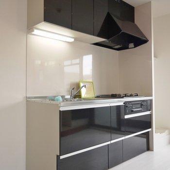 高級感のあるデザインのキッチン