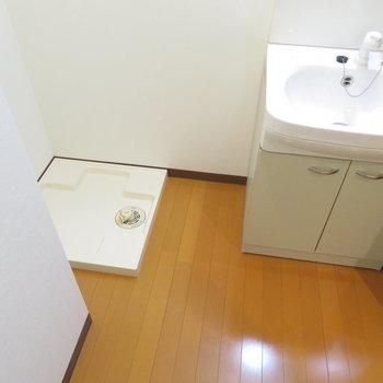 十分な大きさの洗面台