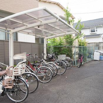 駐輪場スペースがあります