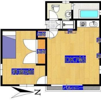 寝室とリビングがしっかり分けられたお部屋!