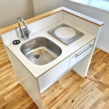 洗い物などの動線がスムーズなカウンタータイプです。