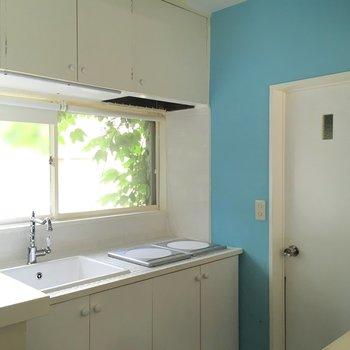 キッチンにも緑の見える窓◎