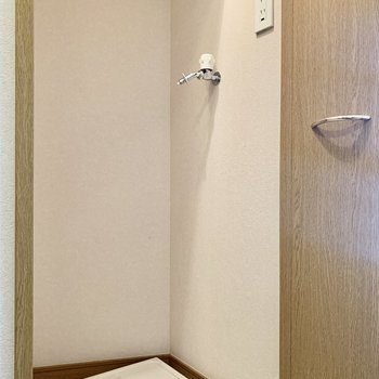 洗濯機は扉で隠すこともできますよ。