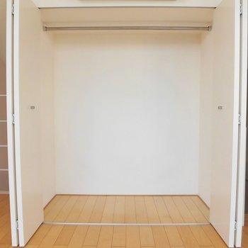 クローゼットはこれだけ。ひとりなら足りそうですね※写真は別部屋です