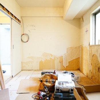 こちらは寝室!※写真は工事中です