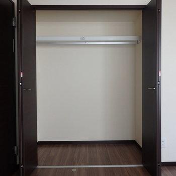 洋室の収納も大きめ。※写真は別部屋