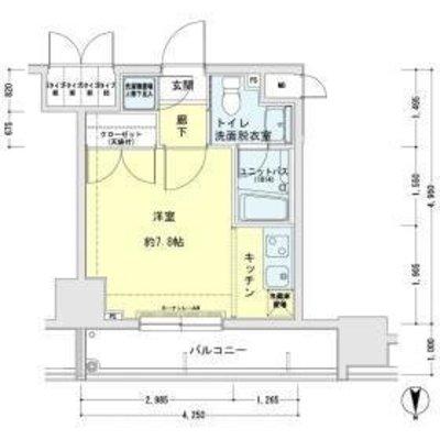 メインステージ錦糸町駅前Ⅱ の間取り