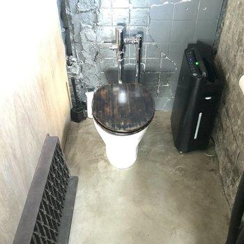 スタイリッシュなトイレ。