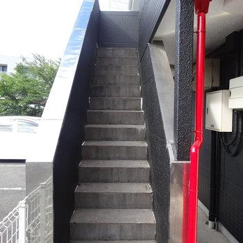 階段を登ってくださいな