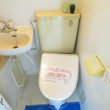 温水洗浄便座付きです