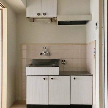 キッチンの横には小さなラックを置きたいなぁ(※写真は通電前のものです)
