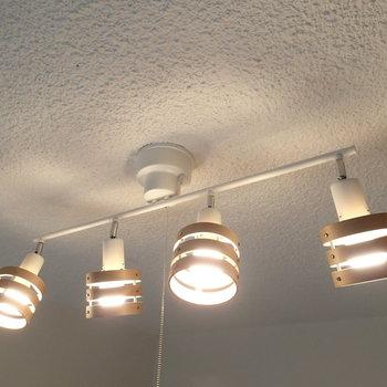 照明は新しいものが取り付けられていました