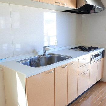 使い勝手の良さそうなキッチン。※写真は別室です。