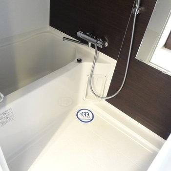 お風呂は普通かな。(※写真は4階の反転間取り別部屋のものです)