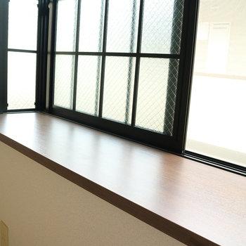 グリーンを置いても、小物を飾っても♪※写真は2階の同間取り別部屋のものです