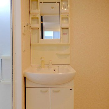 洗面台も綺麗です。 ※写真は別部屋の撮影