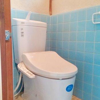 一階のトイレは新しいもの。