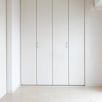 洋室には大きめのクローゼットが。