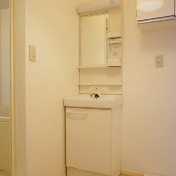 サニタリー、洗面台が小さめ、※写真は前回募集時のものです