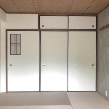 こちらは和室、寝室にいかがでしょうか。※405号室のお写真です