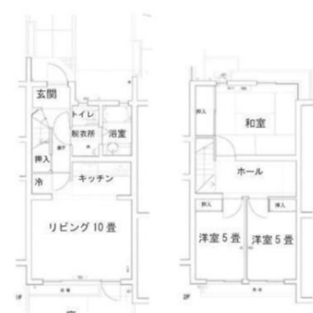 2階建てのお部屋です