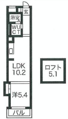 on104:コモド南堀江(H) の間取り