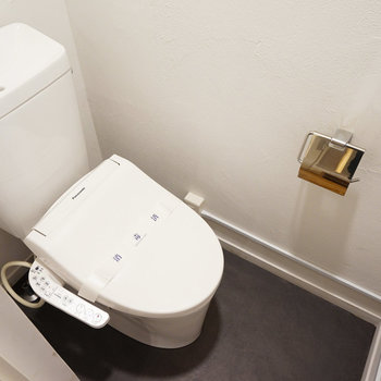 トイレはウォシュレットに