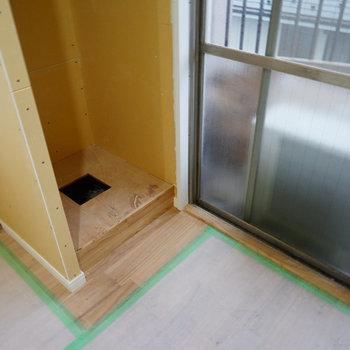 洗濯パンは窓辺にあります※写真は工事中です