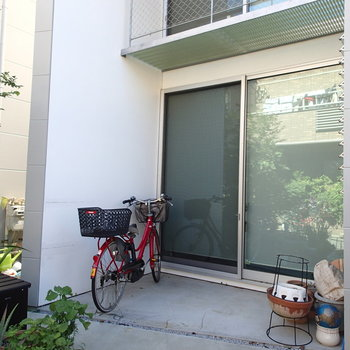 こちらに自転車を置けます。※写真は前回募集時のものです