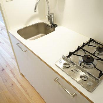 キッチンもオシャレな2口ガスに交換♪※写真はイメージです