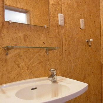 シンプルな洗面台*写真は同タイプの別部屋