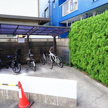 駐輪所もあります!
